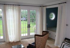 curtains over door