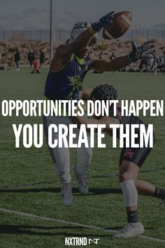 Opportunities don't just appear. You must create them. #FootballQuotes #SportQuotes #Motivation #Inspiration #Football #Nxtrnd #Training Best Football Quotes, Motivational Quotes For Athletes, Mouth Guard, Sport Quotes, Motivation Inspiration, Life Quotes, Training, Inspirational, Shit Happens