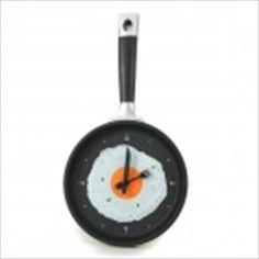 Creative Frying Egg Pan Style Wall Clock - Green + Black  $24.59