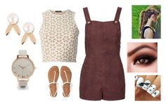 """Dark Maroon And Gold"" by bamagalhgf on Polyvore featuring Alexander McQueen, Topshop, Aéropostale, Aamaya by priyanka and Olivia Burton"