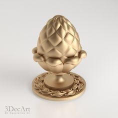 3D model of decorative finial knob for designers, architects and production.