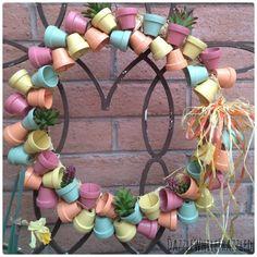Miniature+Terra+Cotta+Flower+Pot+Wreath
