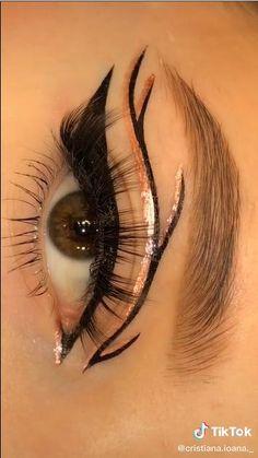 Edgy Makeup, Pink Eye Makeup, Eye Makeup Art, Eyebrow Makeup, Makeup Eyes, Smokey Eye Makeup Tutorial, Grunge Makeup Tutorial, Maquillage On Fleek, Eye Makeup Designs
