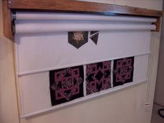 perfect design wall for quilting-takes little space and can be rolled up when… Sewing Room Design, Sewing Room Storage, Sewing Room Decor, Craft Room Design, Sewing Spaces, Sewing Room Organization, My Sewing Room, Craft Room Storage, Sewing Rooms