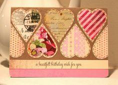 Handmade Card.  a heartfelt birthday wish.