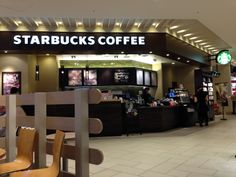 Starbucks at New Chitose Airport is a popular spot.