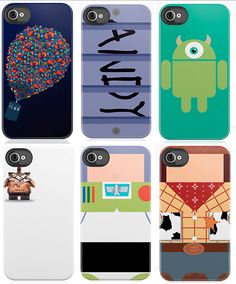 pixar iphone cases... this may cause me to get an Iphone when I am eligable for a new one! SOLD! soooooo cute!