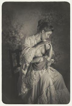 Breastfeeding, vintage style photography, nicola wilhelmsen, self Portrait