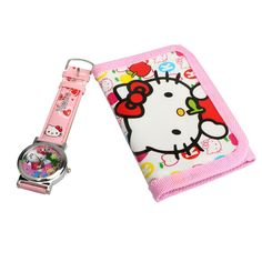 2 In 1 Cartoon Watch With Purse Hello Kitty Quartz Watch Lovely Pink Purse For Kids BS88 #>=#>=#>=#>=#> Click on the pin to check out discount price, color, size, shipping, etc. Save and like it!