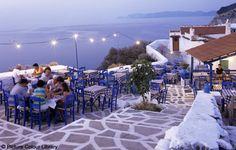 Skopelos Island, Greece.   Mamma Mia was filmed here :) Had many fun nights here drinking and listening to live Greek music!