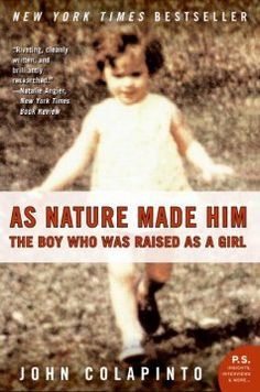 In 1967, after a twin baby boy suffered a botched circumcision, his family agreed to a radical treatment that would alter his gender. The case would become one of the most famous in modern medicine—and a total failure. A macabre tale of medical arrogance, it is first and foremost a human drama of one man's—and one family's—amazing survival in the face of terrible odds.