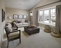 Tans, greys, and plum for side room?
