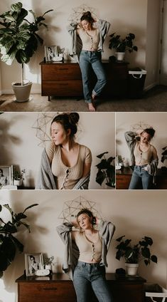 Boise Boudoir Photographer Boudoir By Kayla Makayla Madden Photography Idaho Lifestyle Boudoir Urban Outfitters Boise Senior Photographer Vinyls Records Mid Century modern UO On You Sweater Weather Winter Fashion Model Portraits