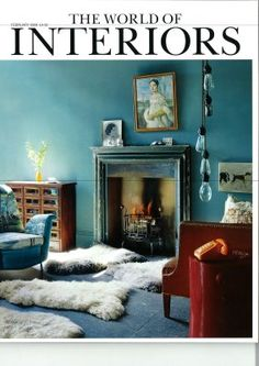 Favorite cover of World of Interiors, the color, the light, all of it.