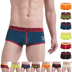 957595e4a0e92 Fashion Men's Soft Comfy Bulge Pouch Boxer Briefs Trunk Thongs Shorts # fashion #clothing #