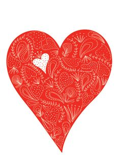 Large Poster / in Love / Red / Heart by dekanimal on Etsy, $28.00