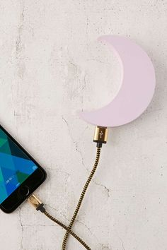 Pink Moon Portable Power Charger : : Urban Outfitters USB with lights that look just like mine!
