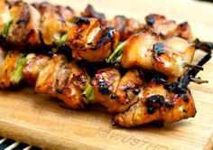 yakitori (japanese skewered chicken). quick and healthy, i love for a weeknight meal that the adults and toddler will eat.