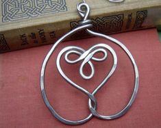 Cuore celtico Croce natale ornamento filo di alluminio