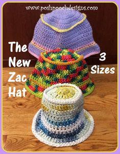 06cab633f1e Posh Pooch Designs Dog Clothes  ZAC Hat - Children s Summer Bucket Hat  Crochet Pattern