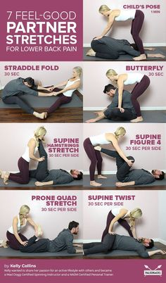 7 Feel-Good Partner Stretches to Release Lower Back Pain yoga fitnees – Top healthy fitness Fitness Workouts, Yoga Fitness, Fitness Motivation, Fitness Tips, Fitness Photos, Health Fitness, Partner Stretches, Partner Massage, Partner Yoga Poses