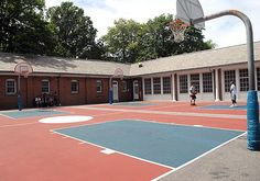 Central Park's North Meadow Recreation Center  NMRC provides field day kits on loan. On presentation of photo ID, visitors can borrow a kit with a variety of balls, bats, frisbees, and jump ropes.  Mid-Park at 97th Street