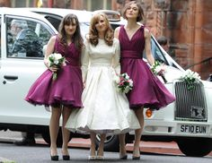Keira Knightley a bridesmaid at brother's wedding-who made these dresses?