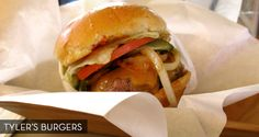 Tylers burgers in Palm Springs--cash only. Try the potato salad and the cole slaw.