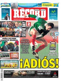 Checa la portada RÉCORD México, Guadalajara y Monterrey de este 28 de mayo de 2014.