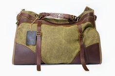 Chartreuse lona tote bolsa/lona/cuero bolso/bolsa/bolso/bolsa de puntada/iPad, bolsa de viaje bolsa