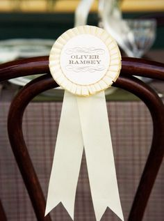 pretty play on a name card