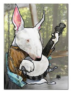 DOGS IN FILM - Deliverance Bull Terrier Print