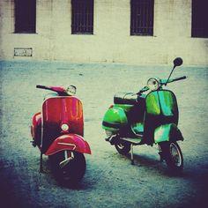 Pair of Vespas  8x8 fine art photo print BOGO SALE par elgarboart, $30,00