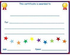Blank certificate award preschool pinterest blank certificate free resources for esl kids teachers printable certificates lesson plan templates attendance sheets yelopaper Gallery