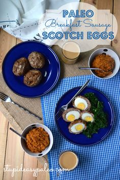 I've gotta try these. Minus the maple syrup and pumpkin spice. Paleo Breakfast Sausage Scotch Eggs