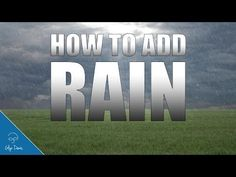 In this video ( I show youa Special Effect for adding RAIN into your pictures all by using a Brush. The technique is all about adding depth and we do tha. Advanced Photography, Photoshop Photography, Photoshop Brushes, Photoshop Actions, Adobe Photoshop, Photoshop Tutorial, Photoshop Course, Ps Tutorials, Adobe Audition