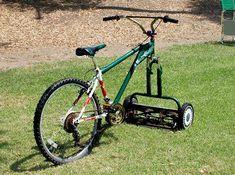 fiets grasmaaier