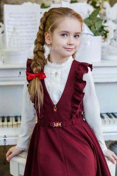 Little Girl Fashion, Kids Fashion, Little Girl Dresses, Girls Dresses, Dress Anak, Moda Kids, Baby Dress Design, Girl Dress Patterns, School Dresses