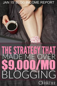 The Strategy That Made Me Over $9,000/Month Blogging. I LOVE THIS!!!! I read blog income reports all the time, but as a blogger, the fact that she spelled her strategy out in an easy to understand way was priceless. I've already figured out what I'm doing wrong. Thank you fromt he bottom of this very busy bloggers heart!