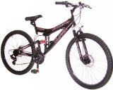 findathing247 Silverfox Black Bike Silverfox Black Bike Frame: 18 Dual Suspension frame, Brakes: twin disc brakes, Gears: 21 speed twist grip,Wheels: 26 alloy wheels with multi-purpose deep tread tyres.I (Barcode EAN = 0028399790234). http://www.comparestoreprices.co.uk/kids-bikes-
