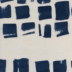 Cotton  Steel Paper Bandana  painted indigo  50cm  by MissMatatabi