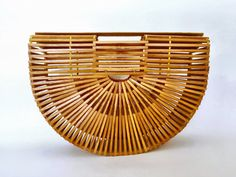 60s/70s Vintage Bamboo Cage Handbag by tatugogo on Etsy