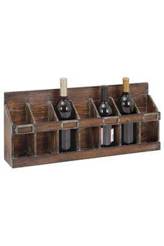 Rustic Vintage  Wood Wine Rack
