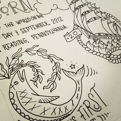 Tattoo nautical inspired birth certificate #tattoo #baby #fayeandco