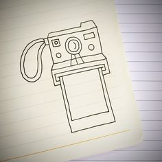 Einfach Zeichnungen An Instant Camera doodle. For more doodle ideas watch Appy Doodles on You. Cute Easy Drawings, Cool Art Drawings, Doodle Drawings, Art Drawings Sketches, Drawing Ideas, Drawing Art, Tumblr Drawings Easy, Simple Doodles Drawings, Easy Doodles To Draw