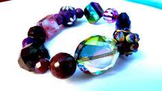 GLAM Big Bling Lampwork Jasper Czech Crystal Polymer by GLAMAZONE, $10.00
