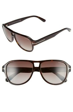 dcf7e74b3b32  Dylan  57mm Aviator Sunglasses Tom Ford Sunglasses