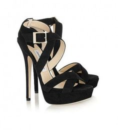 ee46d427de04 Jimmy Choo Louisa suede platform sandals - because a girl just can t have  enough black shoes