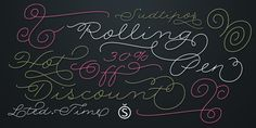 Rolling Pen. New typeface, hot discount http://www.myfonts.com/fonts/sudtipos/rolling-pen/?refby=alepaul