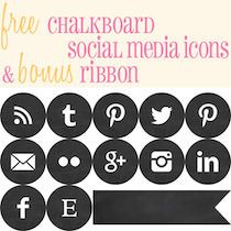 Free Chalkboard Social Media Icons by Stumbling Upon Happiness ~ shared on Brag About It Link Party at VMG206. #seobuttons #chalkboard #bragaboutit